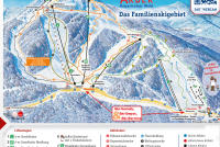 Großer Arber Plan des pistes