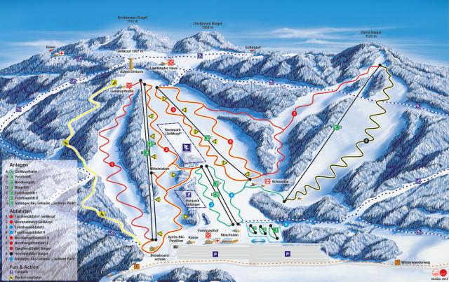 Breitenau Geißkopf Plan des pistes