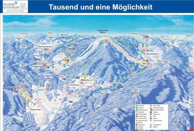 Ochsenkopf Mapa sjezdovek