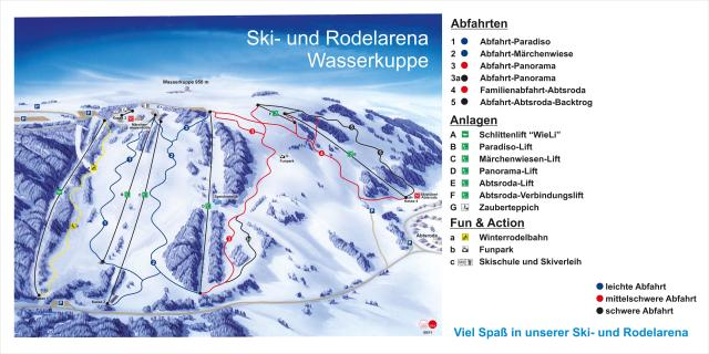 Skiarena Wasserkuppe Trail Map