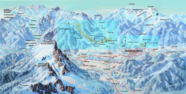 Ruhpolding Trail Map