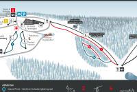 Schöneck Skiwelt Mappa piste