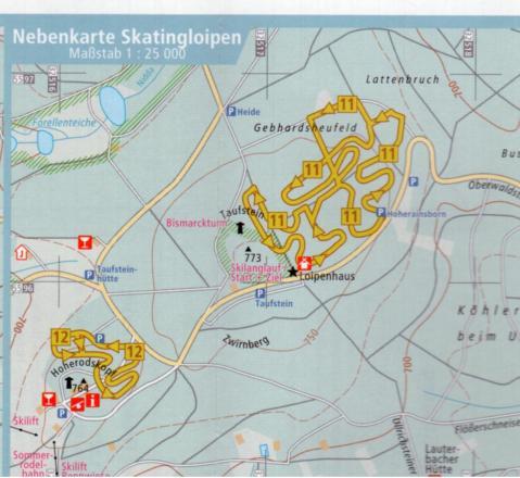 Hoherodskopf Plan des pistes