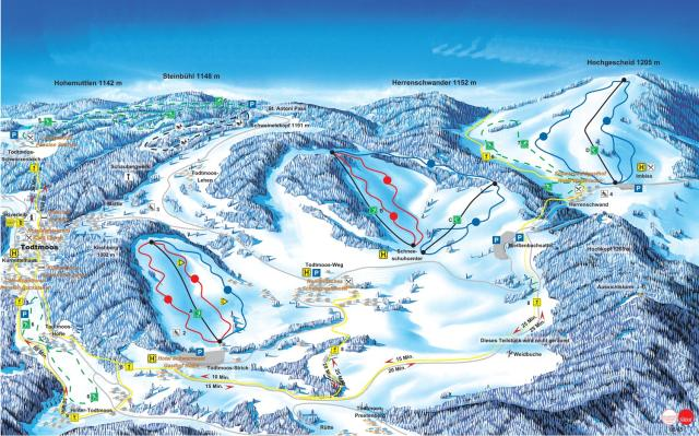 Todtmoos Piste Map