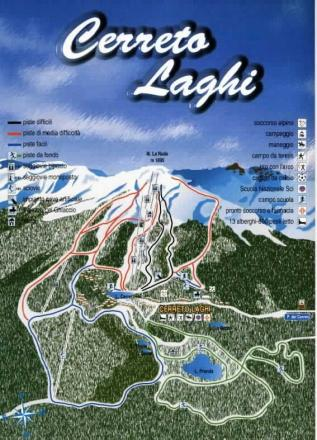 Cerreto Laghi Trail Map