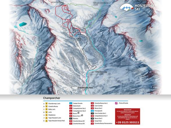 Champorcher Piste Map