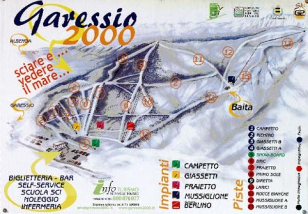 Garéssio 2000 Trail Map
