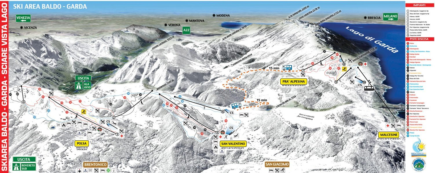 polsa - san valentino piste map | plan of ski slopes and lifts