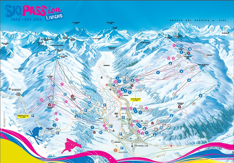Livigno Trail Map OnTheSnow