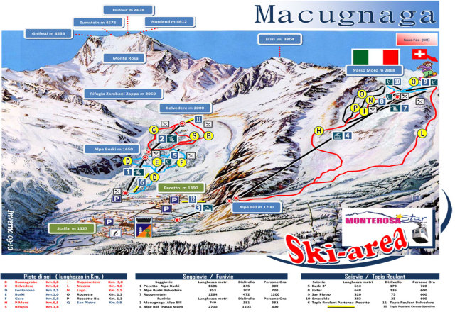 Macugnaga Trail Map