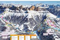Carezza Ski Piste Map