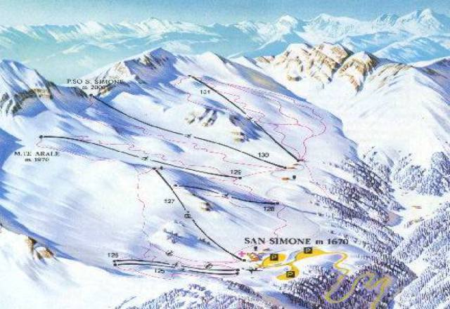 San Simone - Brembo Ski Trail Map