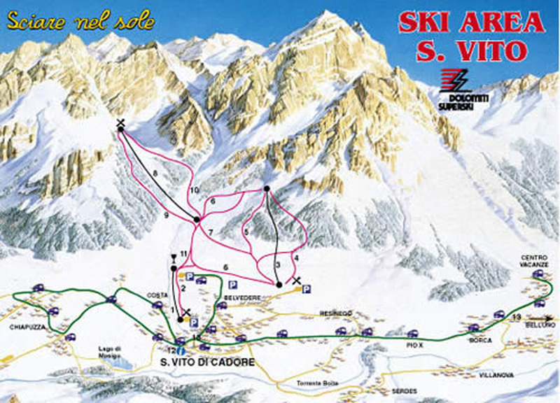 San Vito di Cadore Trail Map OnTheSnow