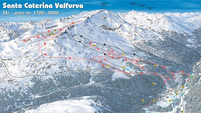 Santa Caterina Valfurva Plan des pistes
