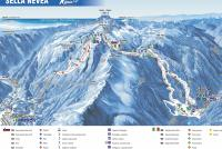 Sella Nevea - Kanin Piste Map