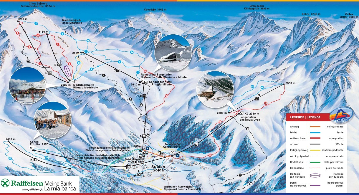 solda / sulden trail map | onthesnow