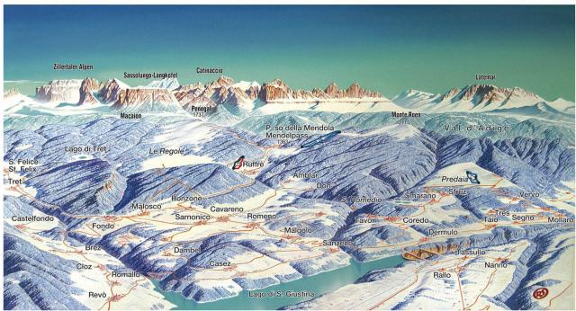 Predaia Piste Map