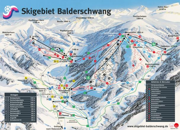 Balderschwang Trail Map
