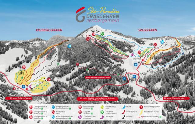 Grasgehren Trail Map