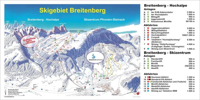 Skizentrum Pfronten - Steinach Trail Map