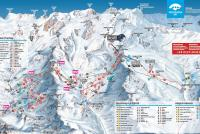 Gressoney-La-Trinité - Monterosa Ski Piste Map