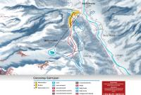 Gressoney-Saint-Jean - Monterosa Ski Piste Map