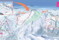 La Rosière Mapa de pistas