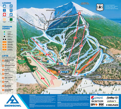 Arizona Snowbowl Trail Map