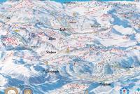 Lech Zürs Mapa de pistas