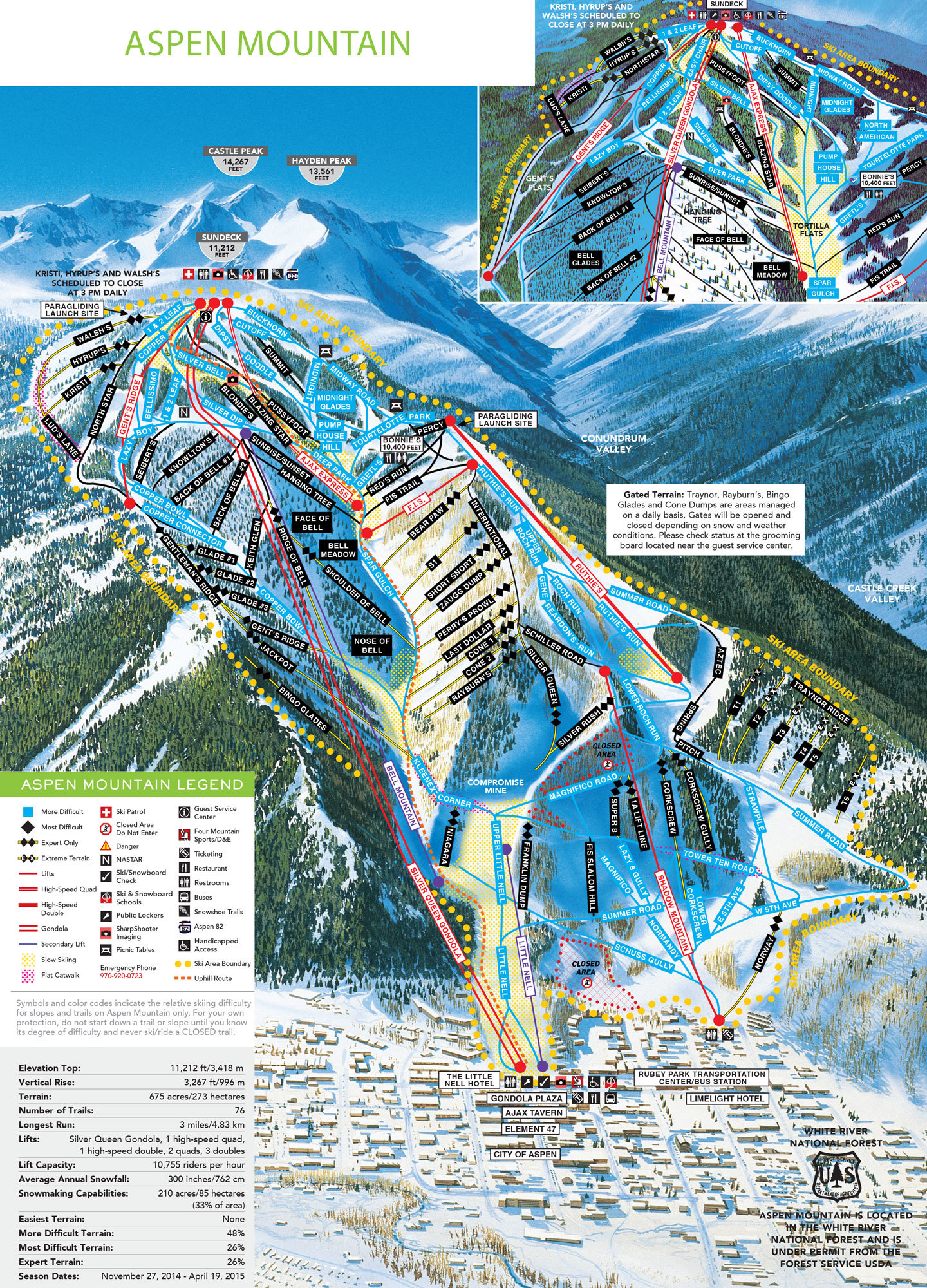 Aspen Snowmass Plan Des Pistes De Ski Aspen Snowmass