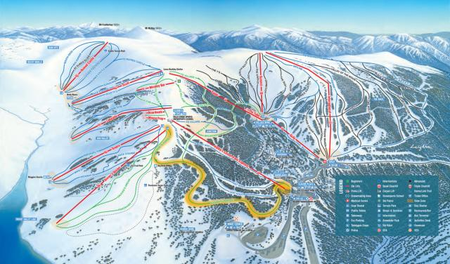 Falls Creek Alpine Resort Trail Map