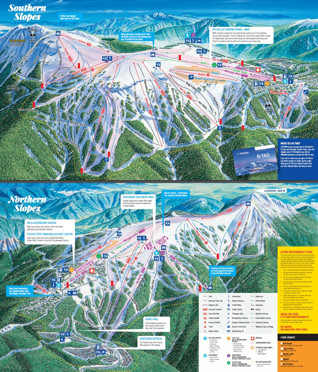 Mt Buller Map Mt. Buller Trail Map | OnTheSnow