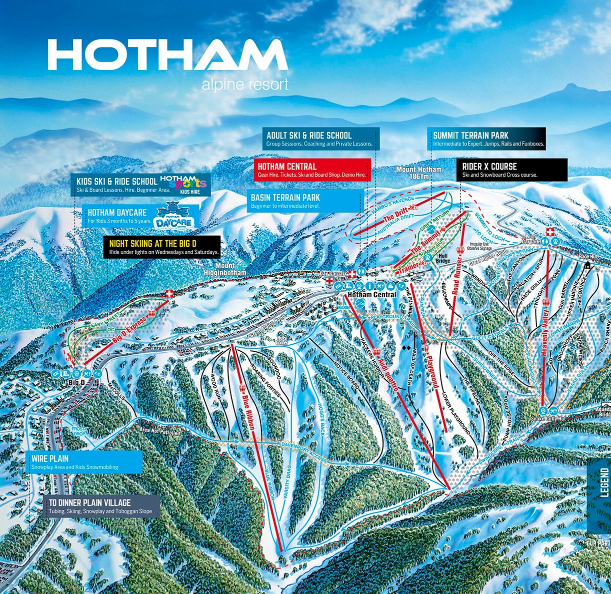 Mt Hotham Trail Map Onthesnow