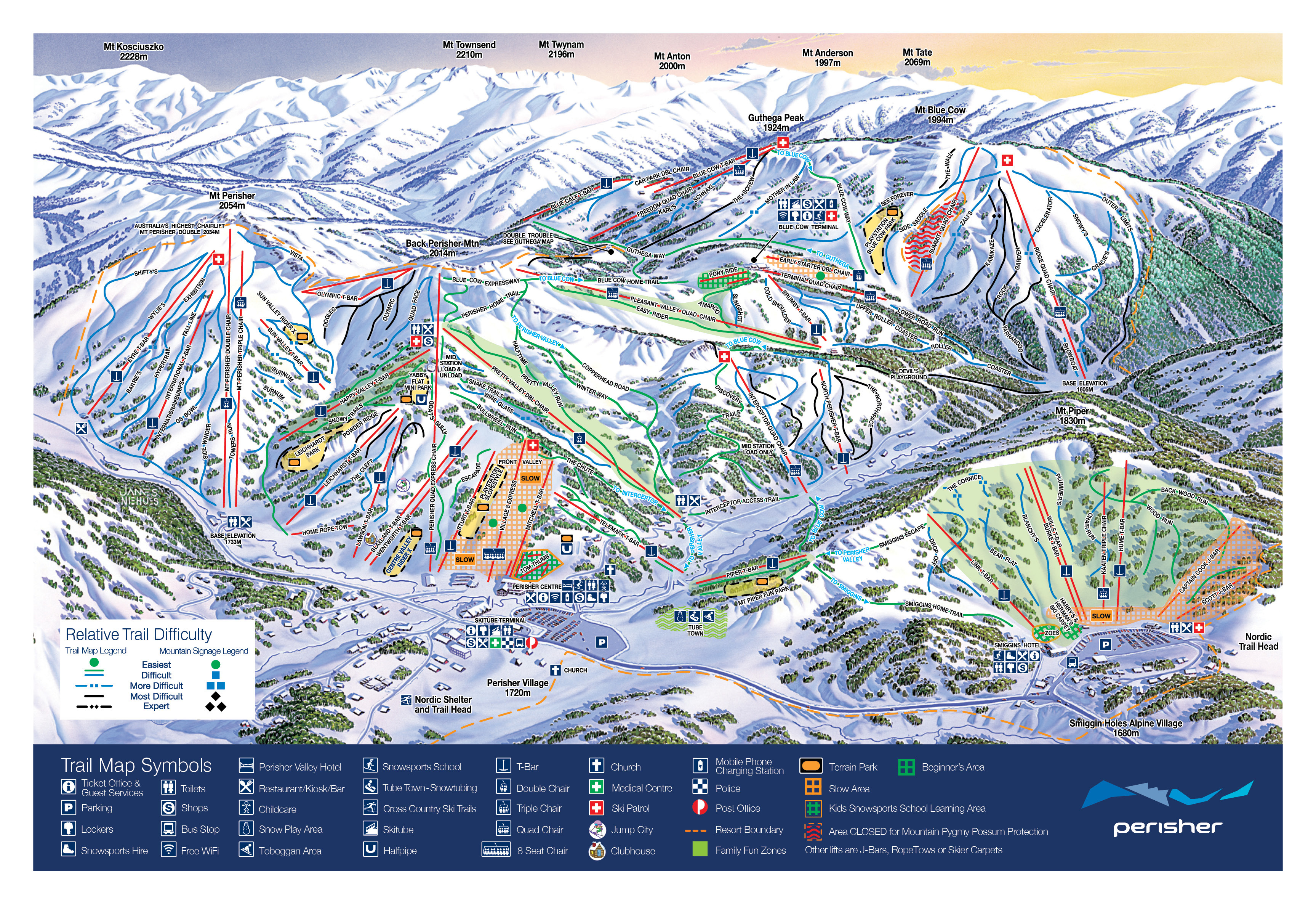 Perisher Trail Map Onthesnow