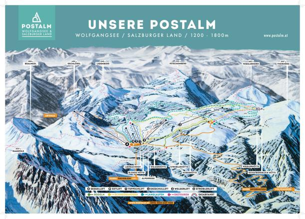 Postalm Trail Map