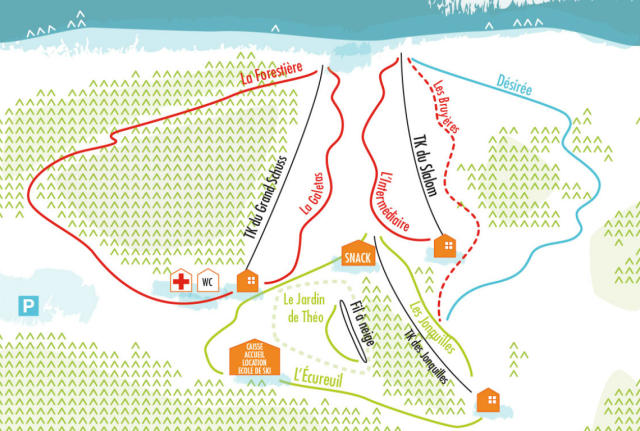 Prabouré Trail Map