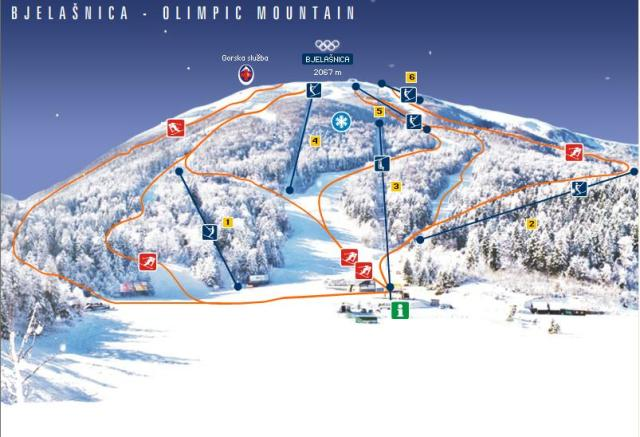 Bjelasnica Trail Map