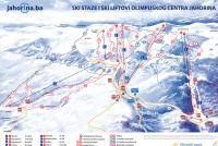 Mount Jahorina Plan des pistes