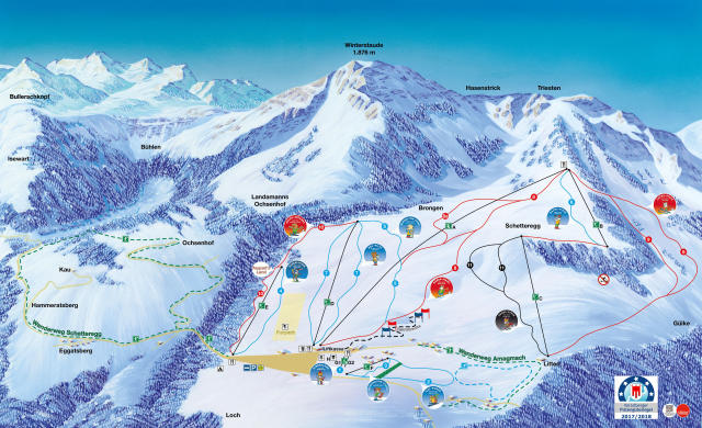 Egg Schetteregg Piste Map