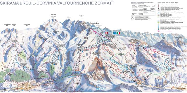 Cervinia - Breuil Trail Map