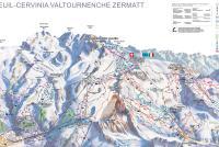 Cervinia - Breuil Mapa de pistas