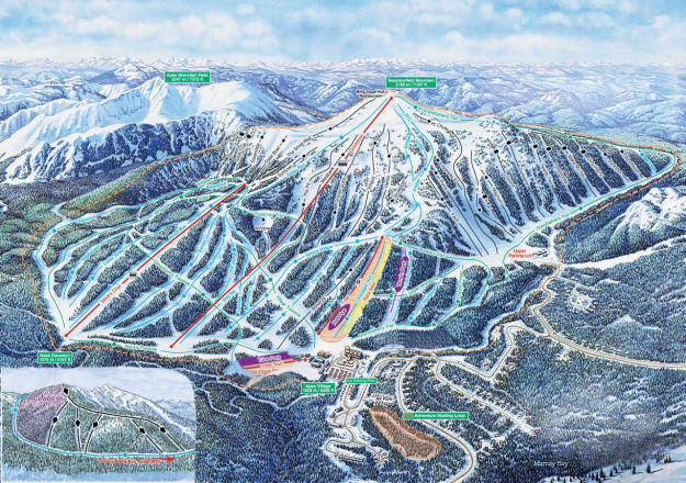 Apex Mountain Mappa piste