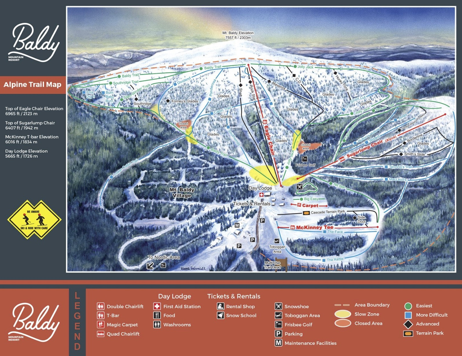 mt baldy trail map | onthesnow