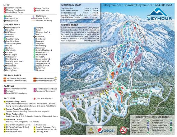 Mt Seymour Trail Map