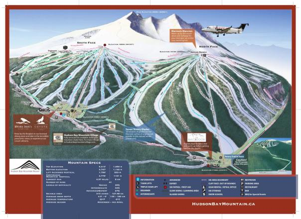 Hudson Bay Mountain Plan des pistes