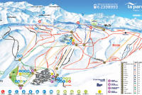La Parva Trail Map