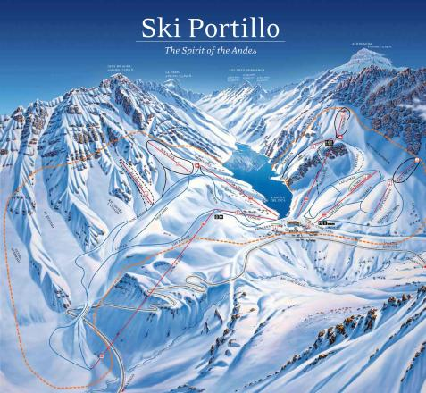 Ski Portillo Piste Map
