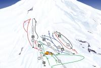 Volcan Villarrica Ski Center Trail Map
