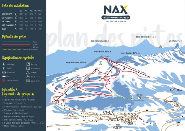 Nax Trail Map