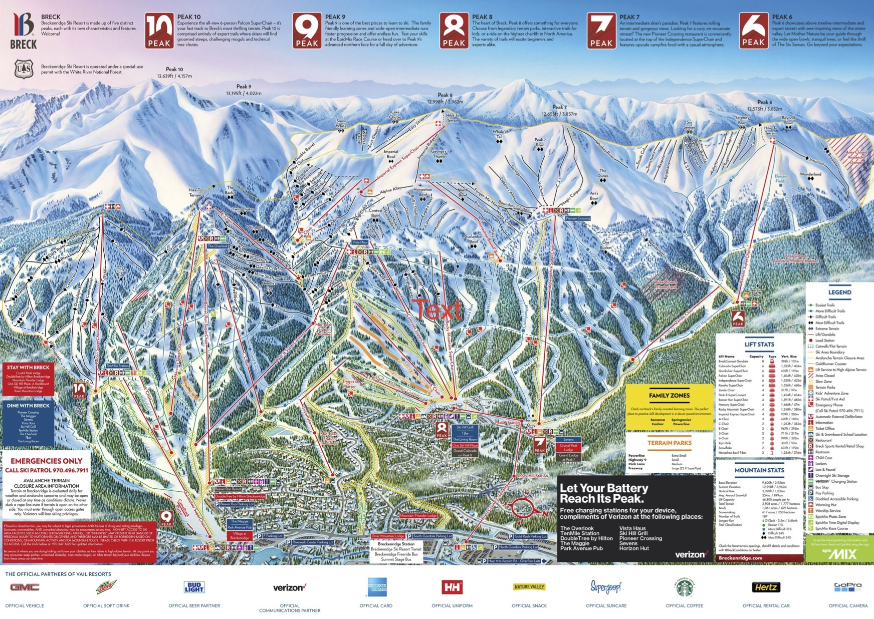 Breckenridge Trail Map Onthesnow - Eastern-us-ski-resorts-map